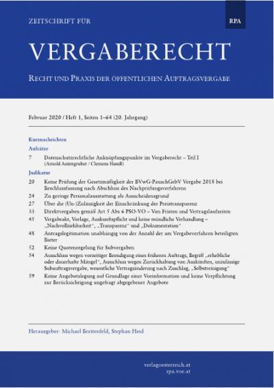 Datenschutzrechtliche Anknüpfungspunkte im Vergaberecht – Teil I