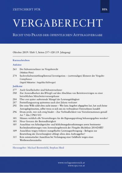 Ausschluss von Schiedsgerichts- und Schlichtungsdienstleistungen sowie bestimmter Rechtsdienstleistungen vom Anwendungsbereich der (Vergabe-)Richtlinie 2014/24/EU