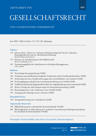 Rechnungslegung anlässlich der Liquidationseröffnung einer GmbH