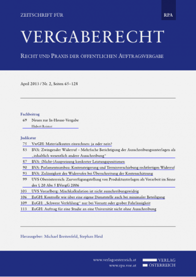 UVS Oberösterreich: Zurverfügungstellung von Produktunterlagen als Vorarbeit im Sinne des § 20 Abs 5 BVergG 2006