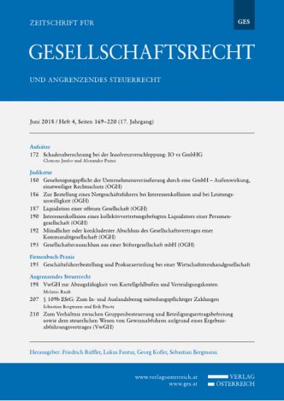 Genehmigungspflicht der Unternehmensveräußerung durch eine GmbH - Außenwirkung, einstweiliger Rechtsschutz