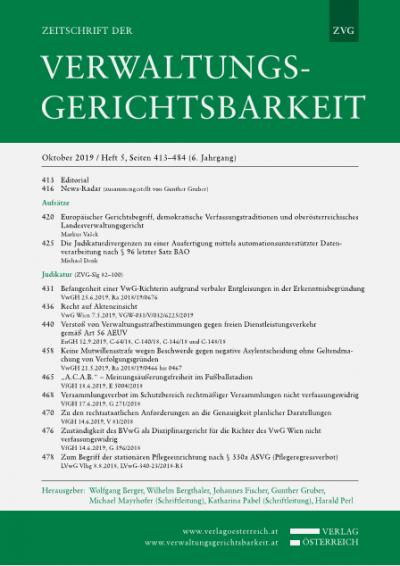Zuständigkeit des BVwG als Disziplinargericht für die Richter des VwG Wien nicht verfassungswidrig