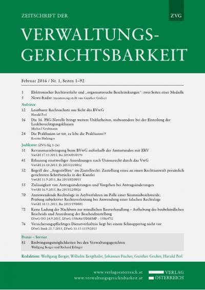 Leistbarer Rechtsschutz aus Sicht des BVwG