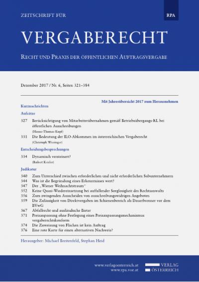 Die Bedeutung der ILO-Abkommen im österreichischen Vergaberecht