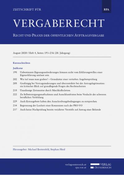 Großzügig bei Vertragsänderungen und überrestriktiv bei der Antragslegitimation: ein kritischer Blick auf grundlegende Fragen des Rechtsschutzes