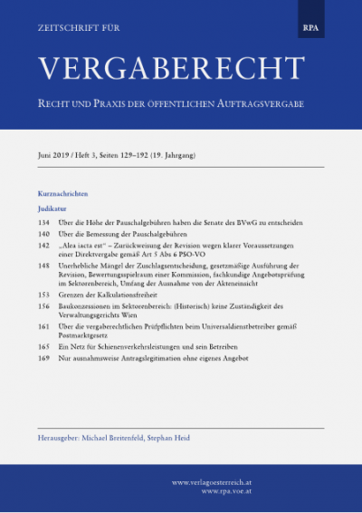 Baukonzessionen im Sektorenbereich: (Historisch) keine Zuständigkeit des Verwaltungsgerichts Wien