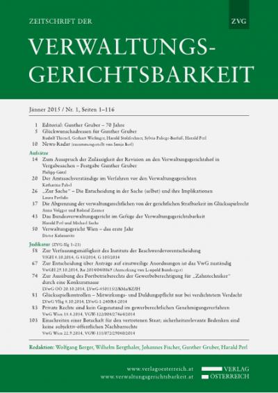 Zum Ausspruch der Zulässigkeit der Revision an den Verwaltungsgerichtshof in Vergabesachen – Festgabe Gunther Gruber