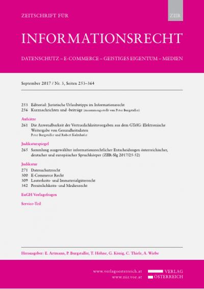 Die Anwendbarkeit der Vertraulichkeitsvorgaben aus dem GTelG: Elektronische Weitergabe von Gesundheitsdaten