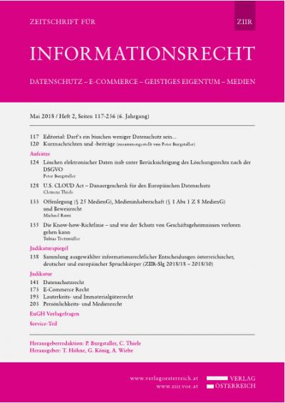 EuGH Urteil 6.12.2017, C-230/16 - Selektiver Luxuswarenvertrieb
