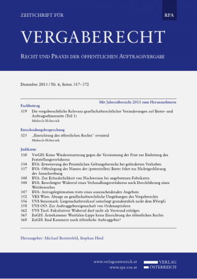 BVA: Erweiterung des Persönlichen Geltungsbereichs bei geförderten Vorhaben