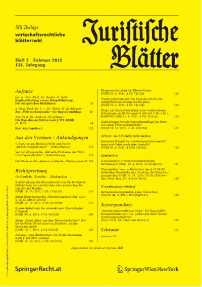"""""""Immissionsabwehransprüche"""" für Superädifikatseigentümer mit nur prekaristischem Grundbenützungsverhältnis?"""