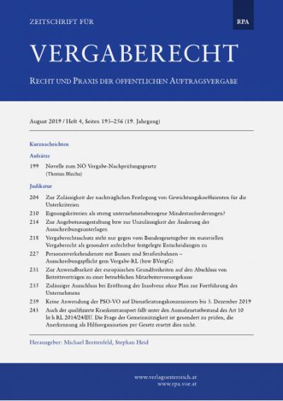 Personenverkehrsdienste mit Bussen und Straßenbahnen – Ausschreibungspflicht gem Vergabe-RL (bzw BVergG)