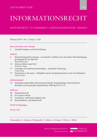 OGH, 21.10.2014, 4 Ob 124/14k – Verjährungsfrist für angemessene Vergütung