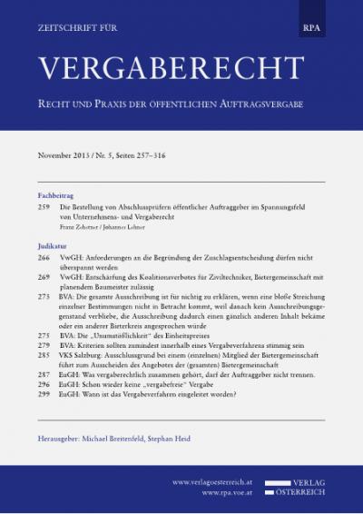 """BVA: Die """"Unumstößlichkeit"""" des Einheitspreises"""