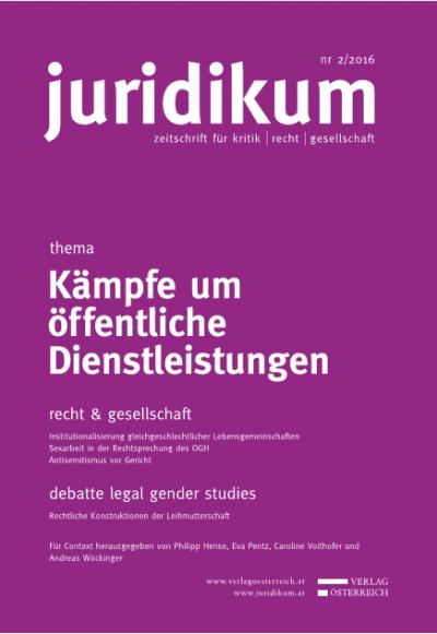 Institutionalisierung gleichgeschlechtlicher Lebensgemeinschaften