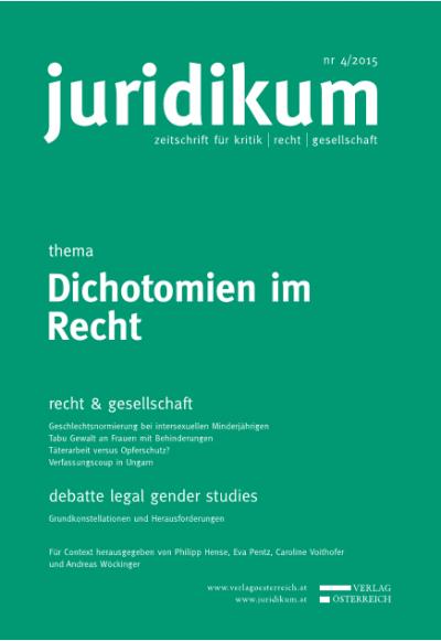 Die binäre Geschlechterordnung des Rechts