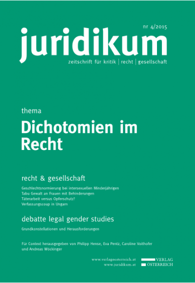Legal Gender Studies: Grundkonstellationen und Herausforderungen