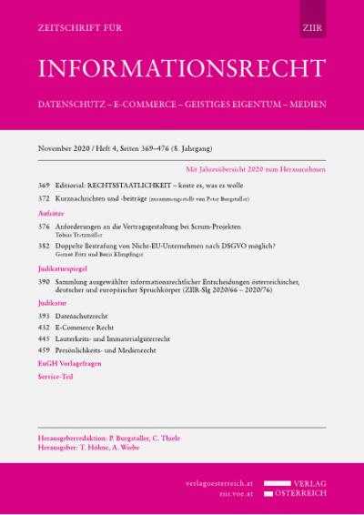 Aktuelle Ereignisse und Entwicklungen zum Informationsrecht