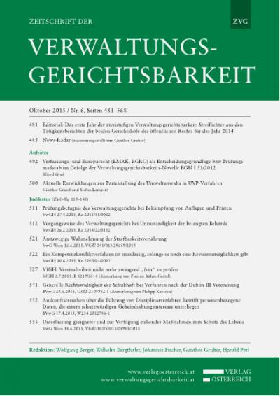 Verfassungs- und Europarecht (EMRK, EGRC) als Entscheidungsgrundlage bzw Prüfungsmaßstab im Gefolge der Verwaltungsgerichtsbarkeits-Novelle BGBl I 51/2012