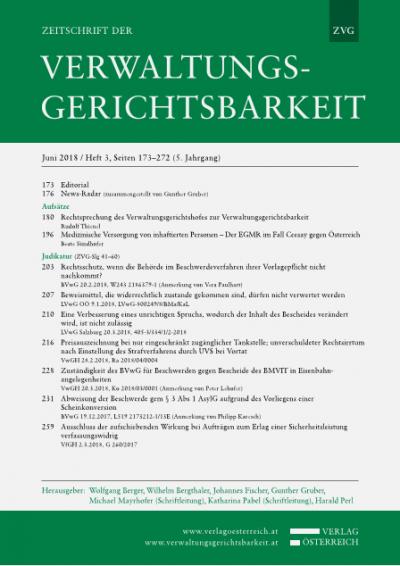 Medizinische Versorgung von inhaftierten Personen - Der EGMR im Fall Ceesay gegen Österreich