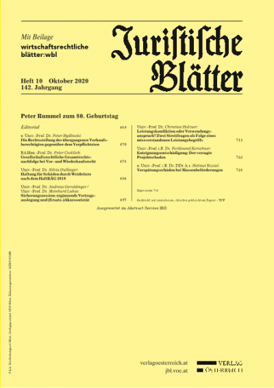 Sicherungszession: ergänzende Vertragsauslegung und (Ersatz-)Akzessorietät