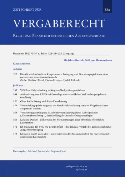 Die öffentlich-öffentliche Kooperation – Auslegung und Gestaltungsspielräume eines umstrittenen Ausnahmetatbestands