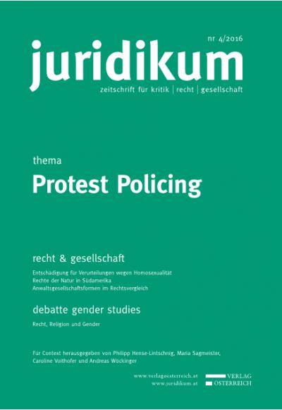 Rechtsschutzprobleme im Protest Policing