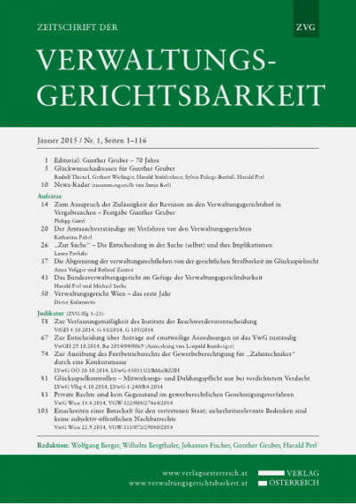 Verwaltungsgericht Wien – das erste Jahr