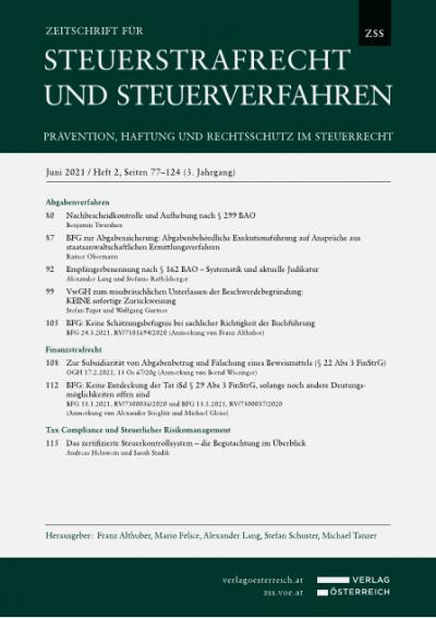 Empfängerbenennung nach § 162 BAO – Systematik und aktuelle Judikatur