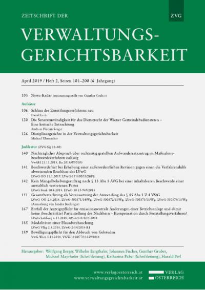 Die Senatszuständigkeit für das Dienstrecht der Wiener Gemeindebediensteten - Eine kritische Betrachtung