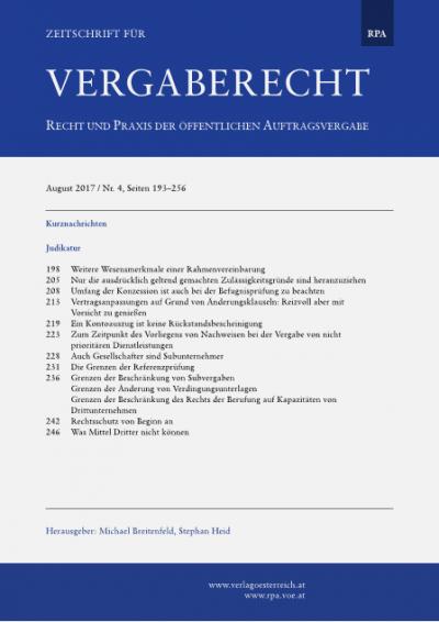 Grenzen der Beschränkung von Subvergaben; Grenzen der Änderung von Verdingungsunterlagen; Grenzen der Beschränkung des Rechts der Berufung auf Kapazitäten von Drittunternehmen