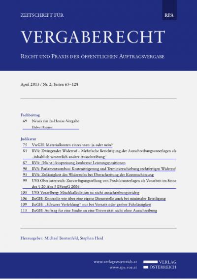 BVA: (Nicht-)Auspreisung konkreter Leistungspositionen