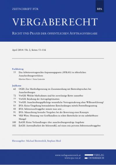 OGH: Zur Marktabgrenzung im Zusammenhang mit Bieterabsprachen bei Ausschreibungen