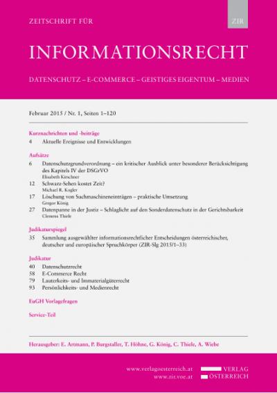 BGH, 11.11.2014, VI ZR 18/14 – Haftung für fremde RSS-Feeds