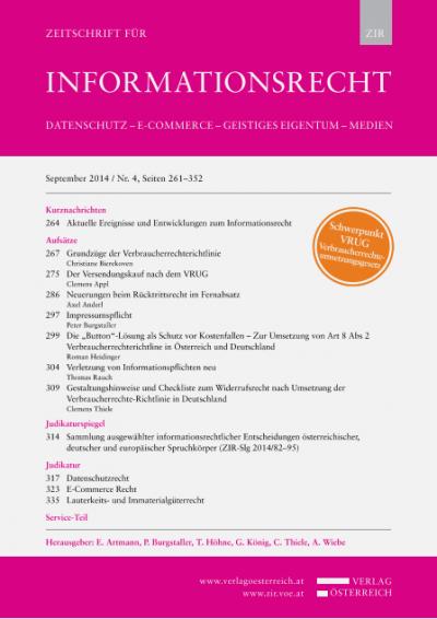 """Die """"Button""""-Lösung als Schutz vor Kostenfallen – Zur Umsetzung von Art 8 Abs 2 Verbraucherrechterichtline in Österreich und Deutschland"""
