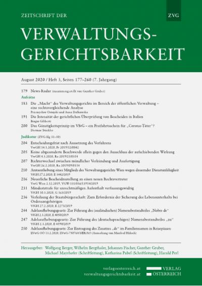 """Das Günstigkeitsprinzip im VStG – ein Freifahrtsschein für """"Corona-Täter""""?"""