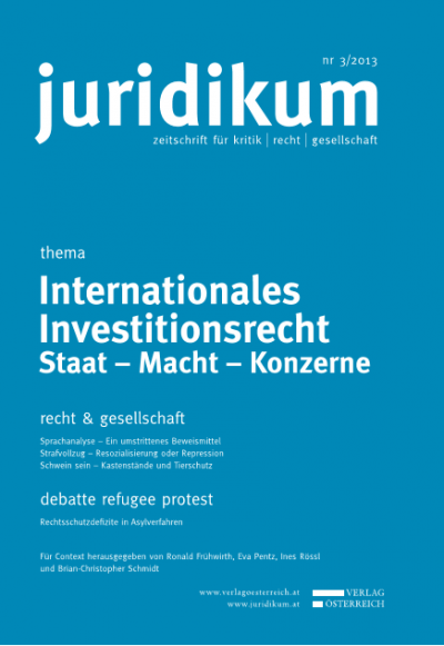 A Critique of Investment Treaties and Investor-State Arbitration