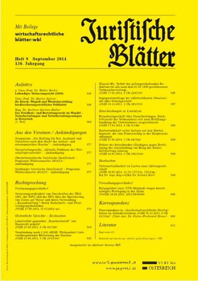 Das Friedhofs- und Bestattungsrecht im Wandel – Naturbestattungen und Naturbestattungsanlagen in Österreich