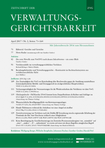 Verfassungswidrigkeit der Voraussetzungen für die Wiederaufnahme des Verfahrens vor dem VwG